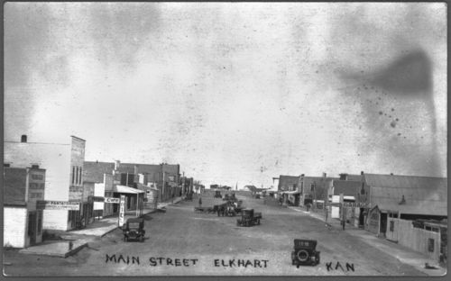 Businesses on Main Street, Elkhart, Kansas - Page