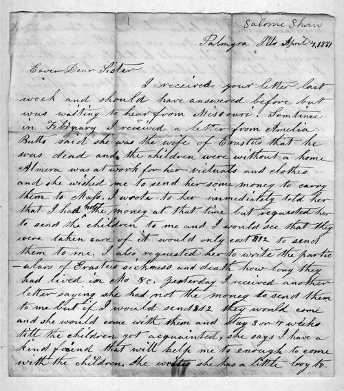 Hiram Hill family correspondence and diary - Page
