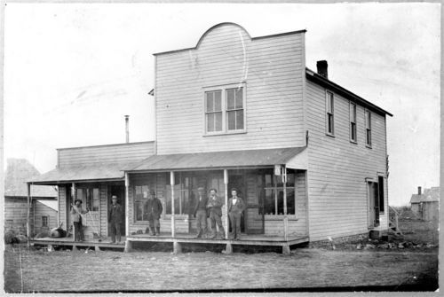 Street scene in Dunavant, Kansas - Page