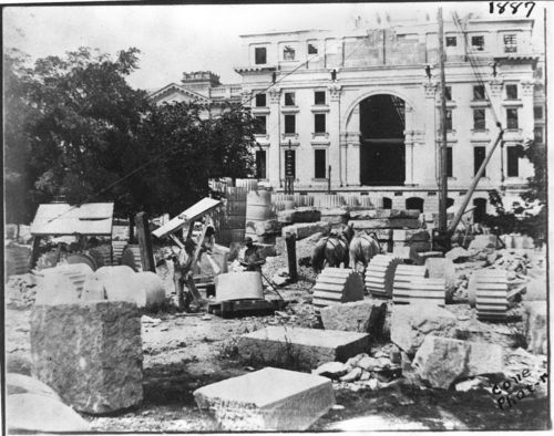 Construction on the Capitol, 1887