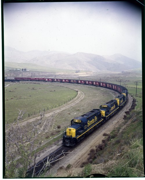 Atchison, Topeka & Santa Fe Railway Company's manifest train, Empire, California - Page
