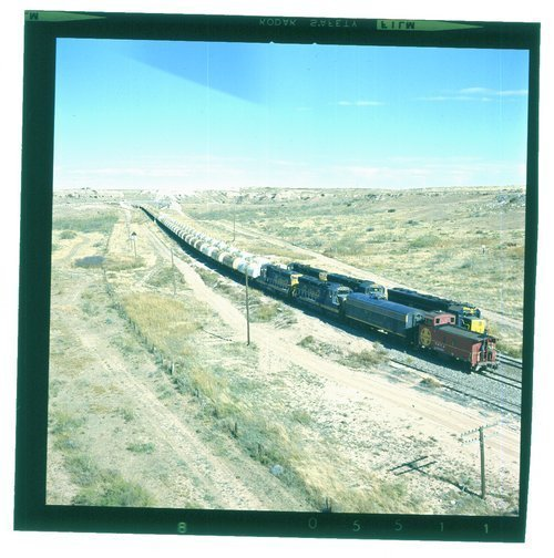 Atchison, Topeka & Santa Fe sulfur trains meeting at Buenos, Texas - Page