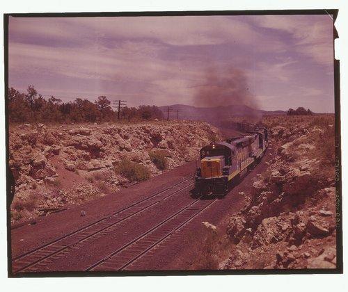 Atchison, Topeka & Santa Fe Railway Company coal train, Flagstaff Arizona - Page