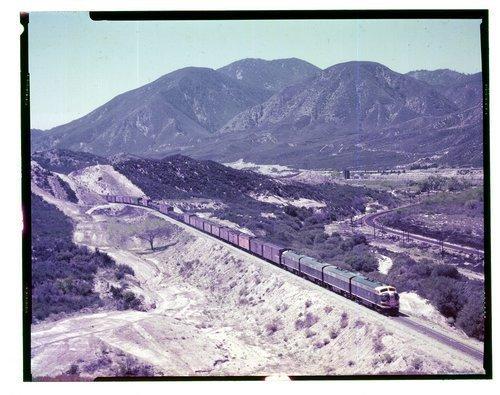 Atchison, Topeka & Santa Fe Railway Company freight train, Cajon Pass, California - Page