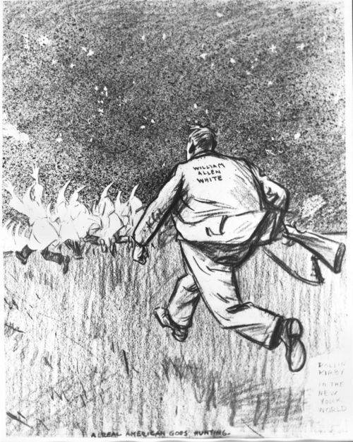 William Allen White campaign cartoon