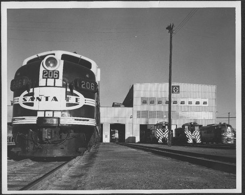 Atchison, Topeka & Santa Fe diesel shop in Barstow, California. - Page
