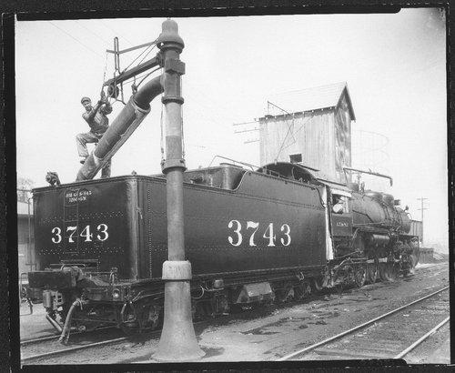 Atchison, Topeka & Santa Fe Railway Company's steam locomotive # 3743 - Page