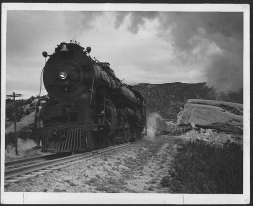 Atchison, Topeka & Santa Fe Railway Company's steam locomotive #3775, Cajon Pass, California - Page