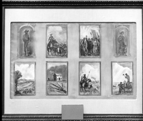 John Steuart Curry's preliminary sketches for the Kansas Capitol in Topeka, Kansas - Page