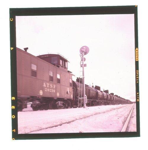 Atchison, Topeka & Santa Fe Railway Company caboose, Flagstaff, Arizona - Page
