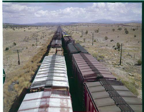 Atchison, Topeka & Santa Fe Railway Company freight trains, Seligman, Arizona - Page