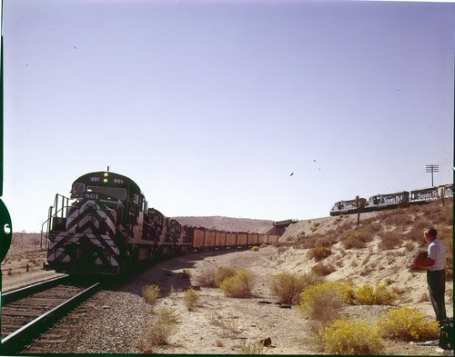 Atchison, Topeka & Santa Fe Railway Company freight trains, Frost, California - Page