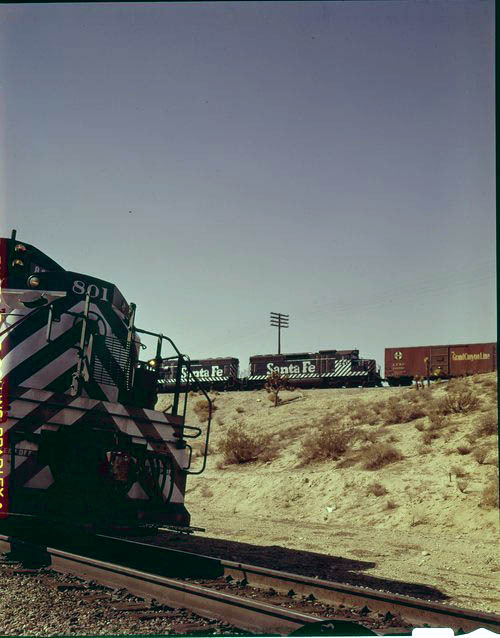 Atchison, Topeka & Santa Fe Railway Company freight trains, Frost, California. - Page
