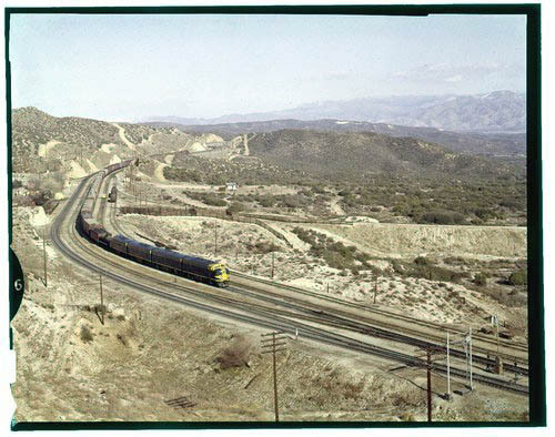 Atchison, Topeka & Santa Fe Railway Company freight train, Summit, California - Page