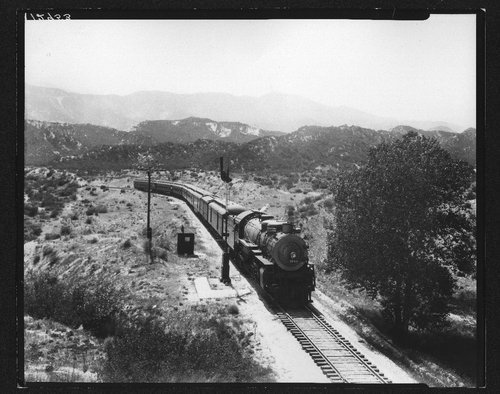 Eastbound passenger train in Cajon Pass - Page