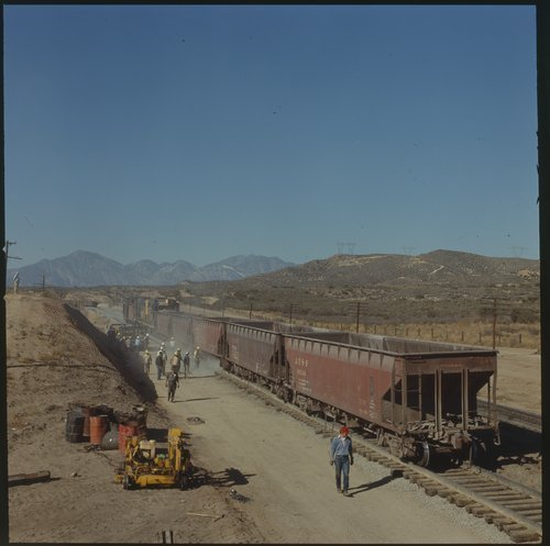Atchison, Topeka & Santa Fe tying in the new westbound  Summit Line, Summit, California - Page