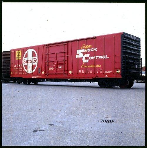 Atchison, Topeka & Santa Fe Railway Company super shock control Df car - Page