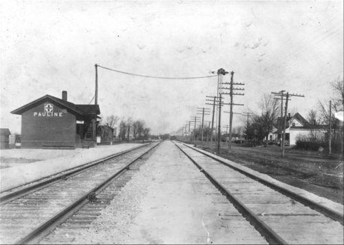 Atchison, Topeka and Santa Fe Railway Company depot, Pauline, Kansas - Page