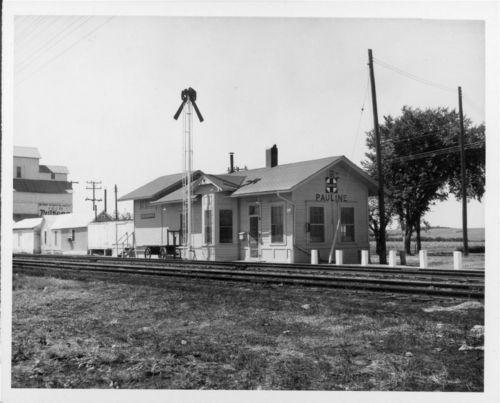 Atchison, Topeka & Santa Fe Railway Company depot, Pauline, Kansas - Page