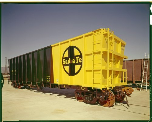 Atchison, Topeka and Santa Fe Railway Company hopper car, Kaiser, California - Page