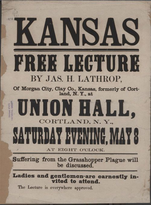 Kansas Free Lecture by Jas. H. Lathrop - Page