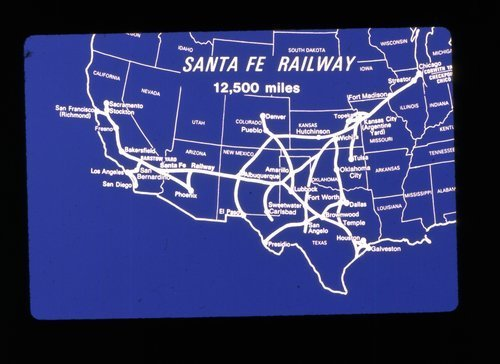 Atchison, Topeka & Santa Fe map of the Santa Fe railway system - Page