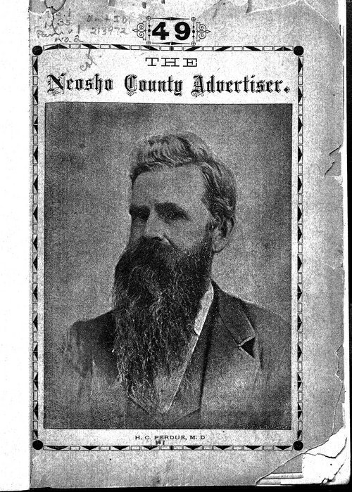 Dr. H. C. Perdue's Neosho County Advertiser, Erie, Kansas - Page