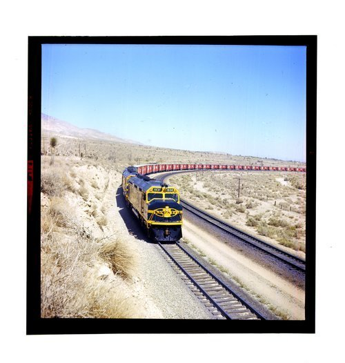 Atchison, Topeka & Santa Fe Railway Company's westbound train, Mojave, California - Page