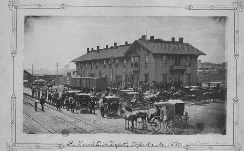 Atchison, Topeka & Santa Fe Railway Company depot, Topeka, Kansas - Page