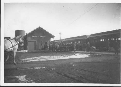Atchison, Topeka and Santa Fe Railway Company depot, Valley Falls, Kansas - Page
