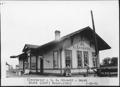 Atchison, Topeka and Santa Fe Railway Company depot, Clearwater, Kansas - Page