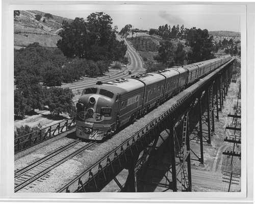 Atchison, Topeka & Santa Fe train No. 2, The San Francisco Chief, near Glen Frazer, California - Page