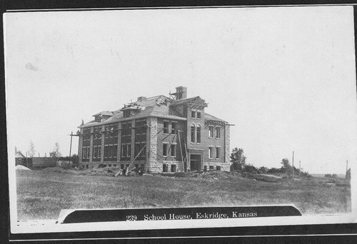 Schoolhouse construction, Eskridge, Kansas - Page