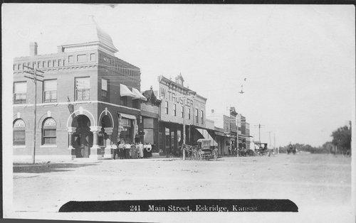 Street scene, Eskridge, Kansas - Page