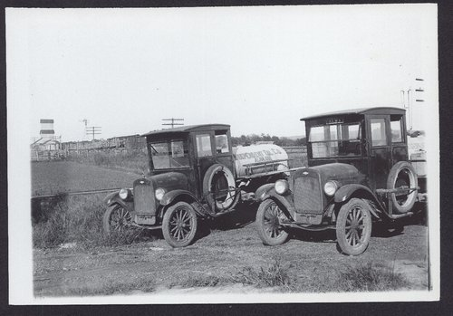 Independent Oil Company delivery trucks, Alma, Kansas - Page