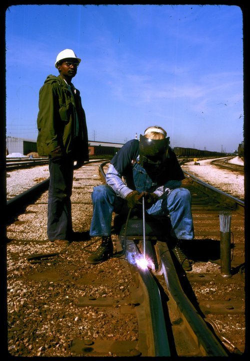 Atchison Topeka & Santa Fe welder and his helper - Page
