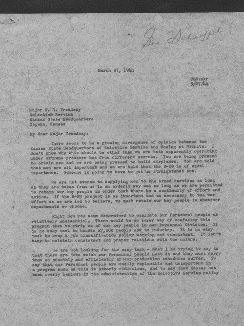 J.E. Schaefer to W.E. Treadway - Page