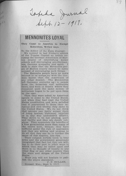 Mennonites loyal - Page