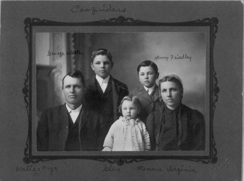 Walter Nye and Minnie Virginia Brunk Cooprider family - Page