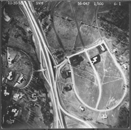 Aerial views of Interstate in Shawnee County, 1956