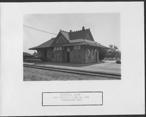 Atchison, Topeka & Santa Fe Railway Company depot, Encinitas, California - Page