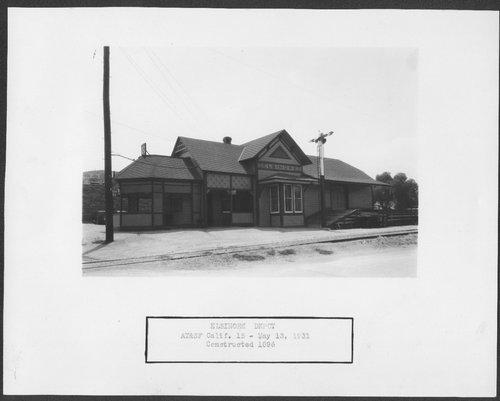 Atchison, Topeka and Santa Fe Railway Company depot, Elsinore, California - Page