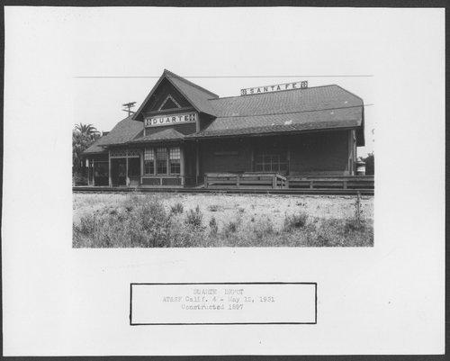 Atchison, Topeka & Santa Fe Railway Company depot, Duarte, California - Page