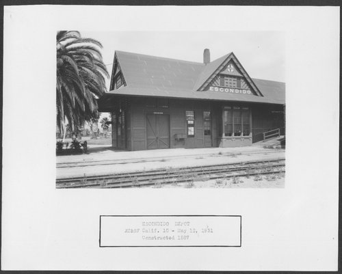 Atchison, Topeka and Santa Fe Railway Company depot, Escondido, California - Page