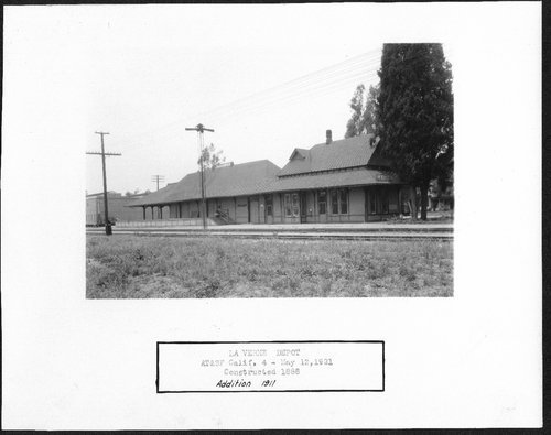 Atchison, Topeka & Santa Fe Railway Company depot, La Verne, California - Page