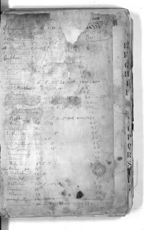 Henry Kuhn collection, record [and recipe] book - Page