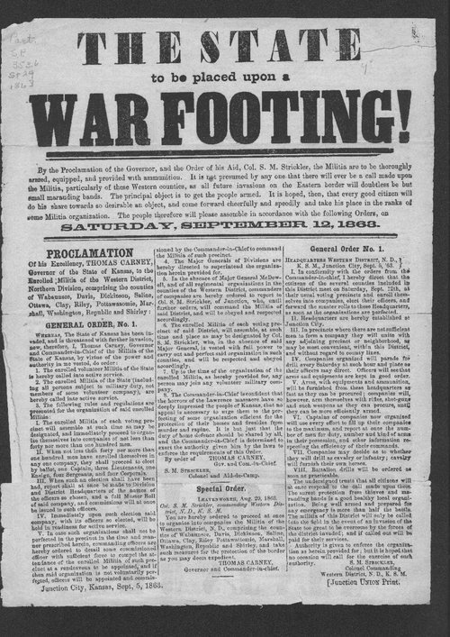 The state to be placed upon a war footing! - Page