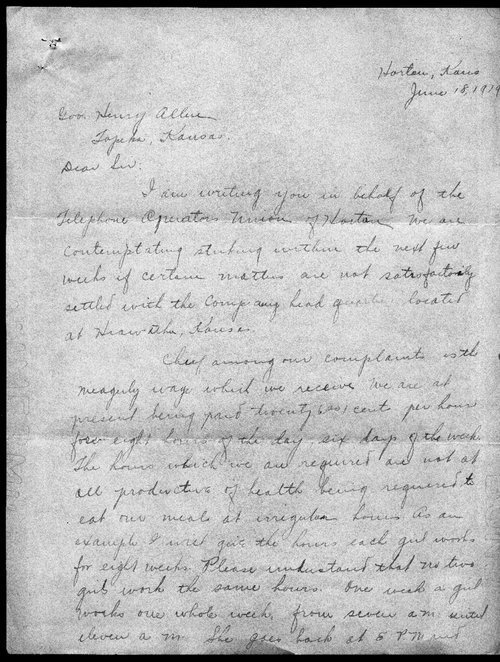 Ethel Franklin to Governor Henry Allen - Page