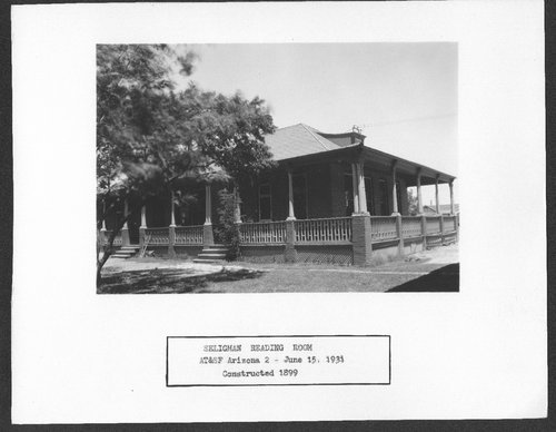 Atchison, Topeka & Santa Fe Railway Company reading room, Seligman, Arizona - Page