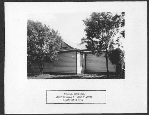 Atchison, Topeka and Santa Fe hospital, Winslow, Arizona - Page